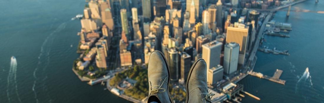 Boven New York in heli zonder deuren 🚁